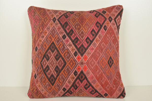 Turkish Hemp Pillow C01562 18x18 Primary Decor African Handwork Fragment