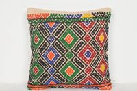 Turkish Rug Handmade Pillow D01064 16x16 Fine Textile Big