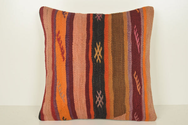 Kilim Rug Cushions C01175 18x18 Modernistic Inexpensive Floral