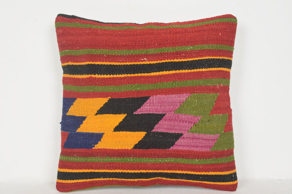 Kilim Rugs UK Sale Pillow D00878 16x16 Excellent National Boho