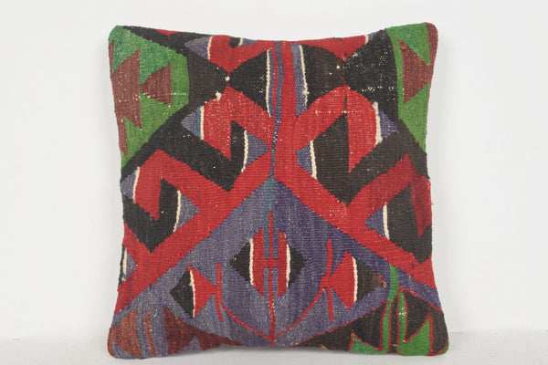 Kilim Rugs Malaysia Pillow D01083 16x16 Mexican Low-priced Knotted