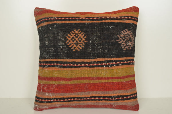 Turkish Rug Cushion C01187 18x18 Decorating Flat weaving Euro