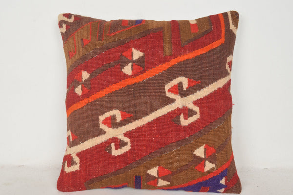 Long Kilim Cushion C00689 18x18 Tribal Needlework Folk