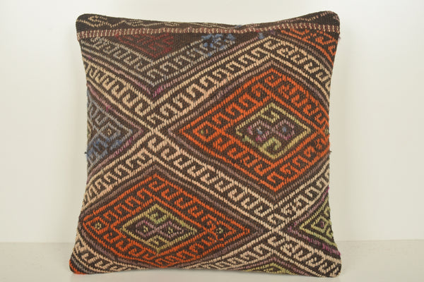 Kilim Woven Pillows C01589 18x18 Handicraft Easter Folk art Knotted
