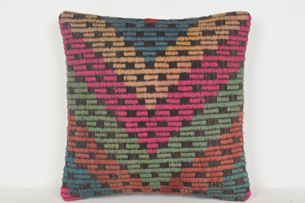 Kilim Pillow Canada D00519 16x16 Inexpensive Hotel Western