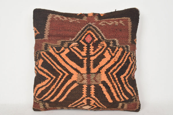 Wool Kilim Cushion C00219 18x18 Flat Traditional Euro sham