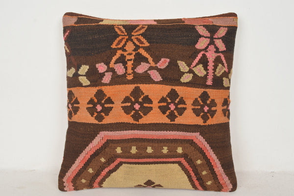 Kilim cushions Online C00419 18x18 Reliable Flat weaving Geographical