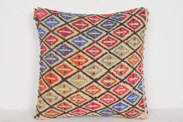 Gold Kilim Rugs Pillow D01119 16x16 Case Kitchen Wholesale