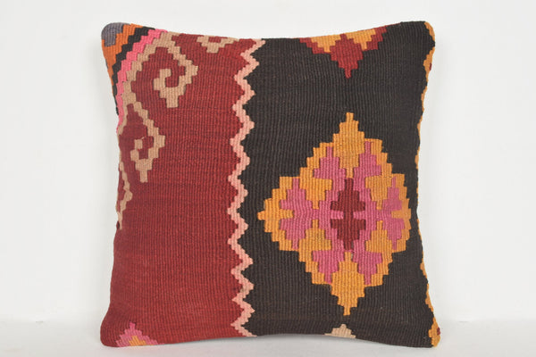 Kilim Patchwork Pillow D01219 16x16 Nursery Country Model