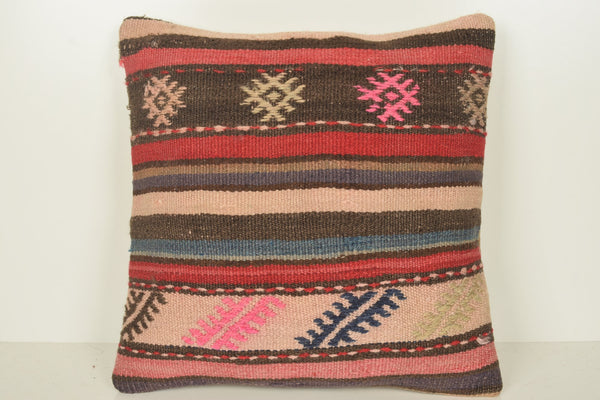 Kilim Cushion Pillow C01193 18x18 Designer Wool Collection