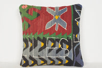Turkish Rugs Bodrum Pillow D01094 16x16 Adorning Folk Collection