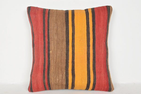 Moroccan Kilim Cushion D00720 16x16 Embroidered Precious