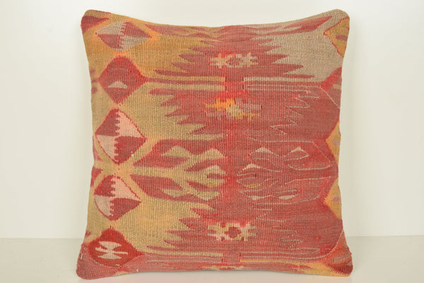 Turkish Kilim Pillow Covers C00820 18x18 Folk Wool Couch
