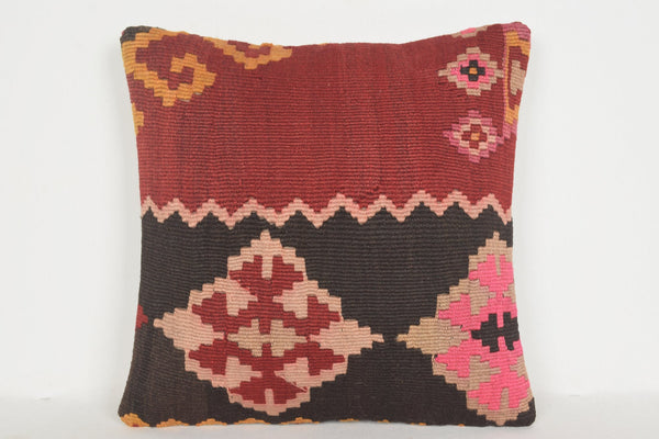 Best Kilim Rugs Pillow D01220 16x16 Mexican Design Euro