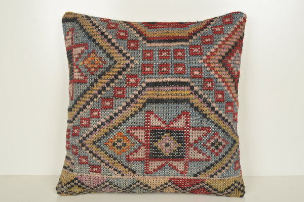 Kilim Rug Etsy Pillow B02202 20x20 Geometric Accessory Pastel