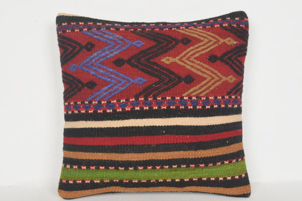 Turkish Antique Rug Pillow Cover D00622 16x16 Southern Southwestern Eastern