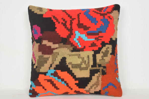Kilim Rug Bay Area Pillow B00223 20x20 Hand Embroidery Gift