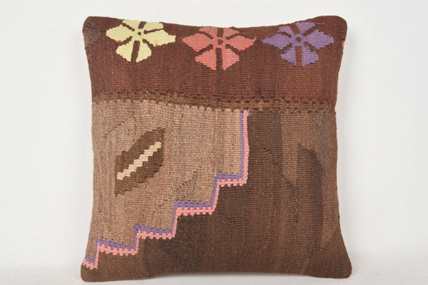Kilim Rugs Cushion C00223 18x18 Navajo Folk art Unique