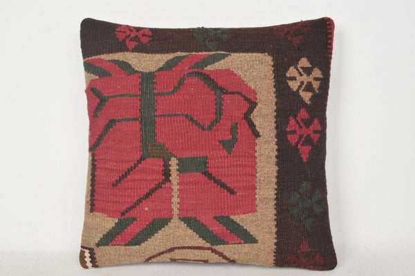 Turkish Corner Pillow with Welt C00324 18x18 Neutral Knit Handwoven