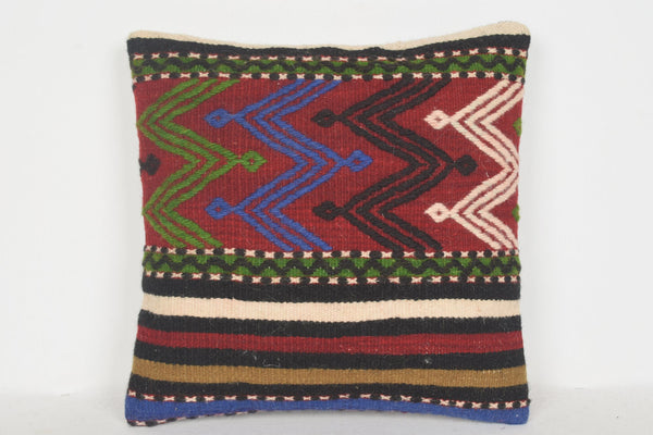 Etsy Turkish Kilim Pillows D00524 16x16 Patio Handknit Ornament