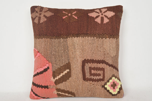Kilim Woven Throw Pillow C00225 18x18 Free shipping Hellenistic Right