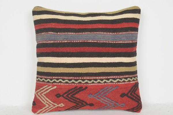 Turkish Tapestry Pillow D00526 16x16 Natural Bohemian Tapestry