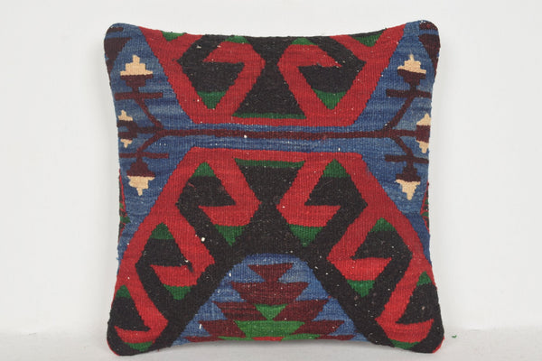 Kilim Pillow Fabric 16x16 D00137 Anatolian Substantial Wool