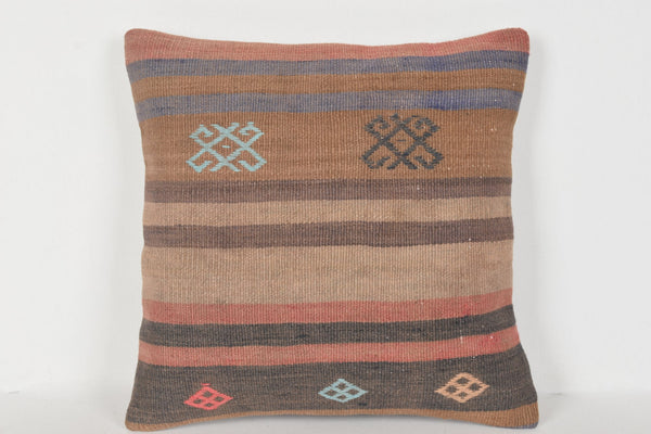 Kilim Cushion Melbourne D00328 16x16 Bed Prehistoric Cool
