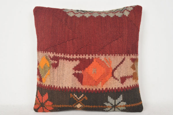 Etsy Turkish Kilim Pillows C00228 18x18 Cotton Handicraft Throw