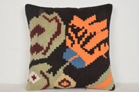 Kilim Throw Rug Pillow B00128 20x20 Novelty Hand Woven Tuscan
