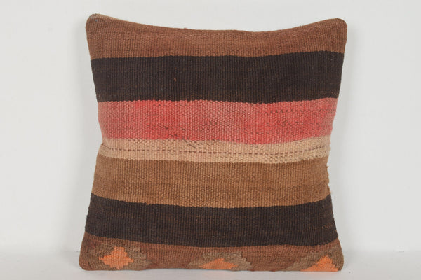 Kilim Floor Cushion UK D00429 16x16 Comfortable Technical Low-priced