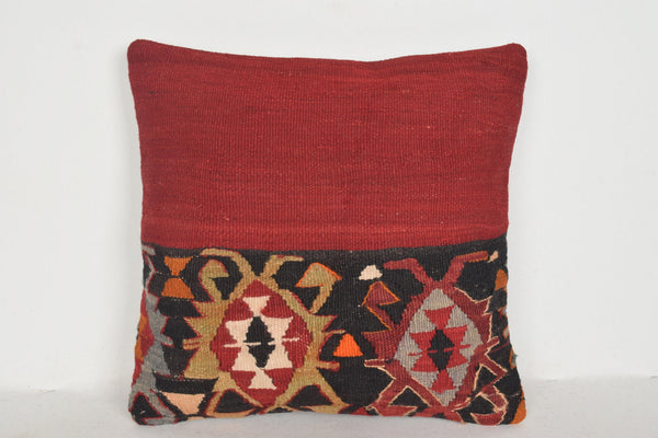 Turkish Patchwork Pillow D01430 16x16 Tapestry Knitting Cover