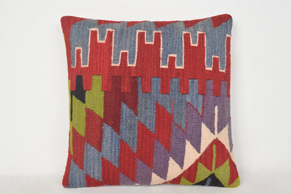 Kilim Floor Cushion UK C00330 18x18 Shop Asian Handknit