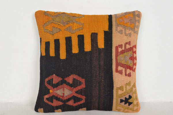 Kilim Rugs Houston Pillow D01431 16x16 Hand Knot Eastern Personal