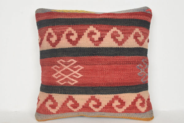 Kilim Rugs Toronto Pillow D00932 16x16 Unusual Artist Rich