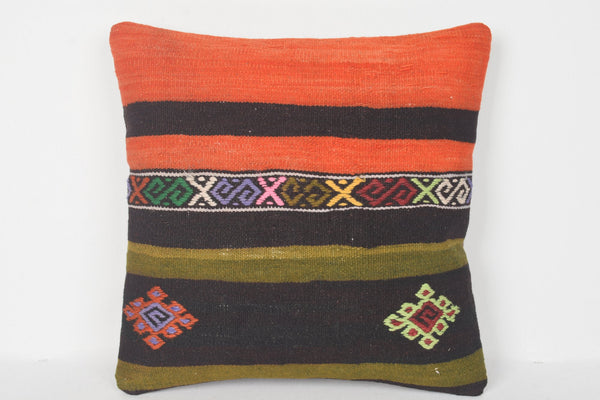 Orange Turkish Pillow Covers 16x16 D00142