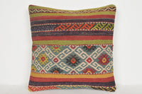 Pastel Kilim Pillow Covers D00633 Tapestry cushion cover 16x16