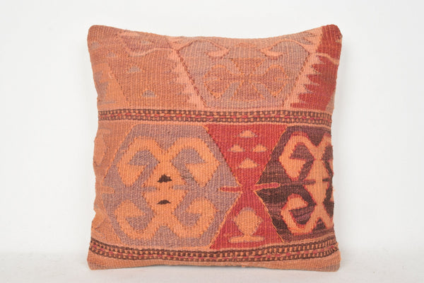 Used Kilim Pillows C00335 18x18 Middle east Collection Southwestern
