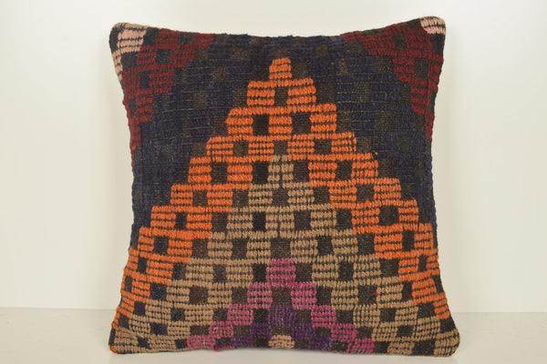 Kilim Pillow Ebay C01035 18x18 Flat weaving Knitted Original