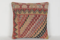 Kilim Floor Pillow Cushion D00338 16x16 Artist Lifestyle Art