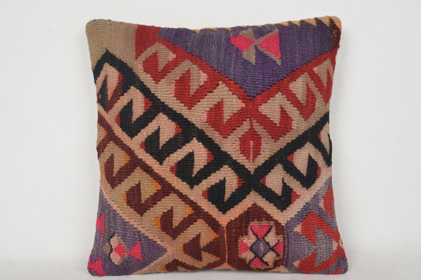 Kilim Pillow Covers Etsy C00138 18x18 Hand woven Lace Middle east