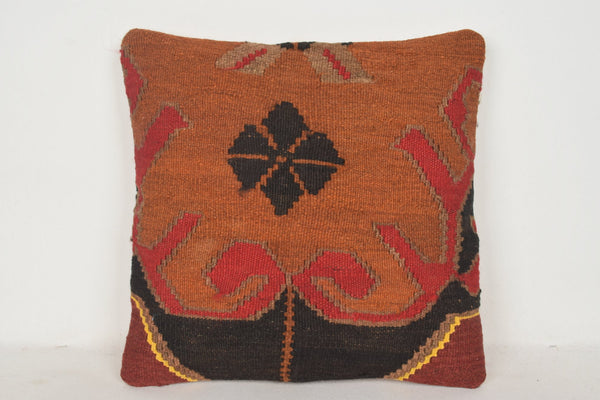 Handmade Kilim Cushion C00538 18x18 Tuscan Mid century Mythological