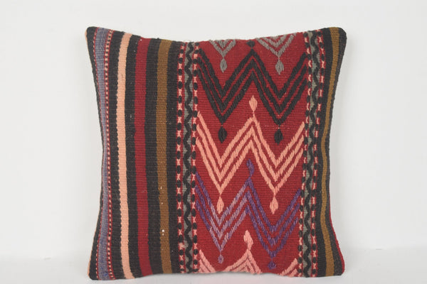 Kilim Cushions London 16x16 D00149 Ethnic Mythological Euro sham