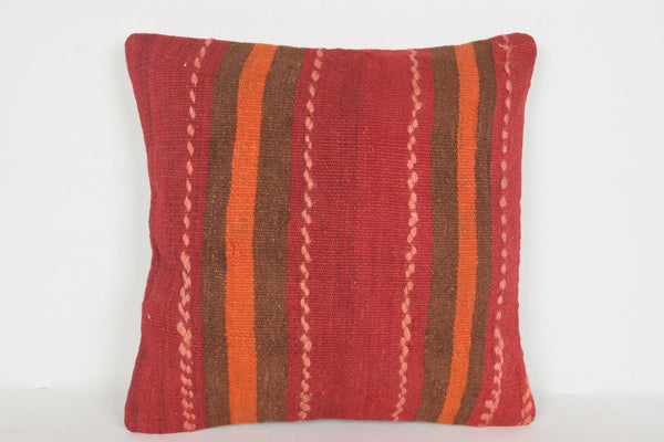 Kilim Pillows from Turkey D00640 16x16 Tribal Sale Decorative