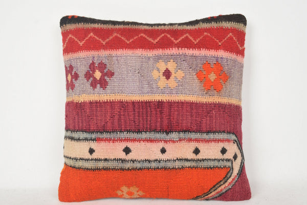 Turkish Carpet Pillows C00240 18x18 Eclectic Southwestern Handwork