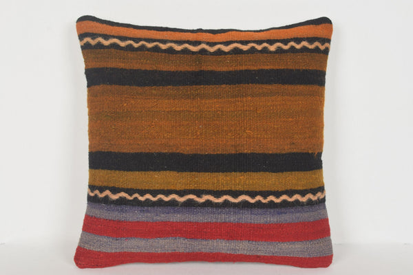 Turkish Pillows Etsy D00304 16x16 Midcentury Tapestry Handmade