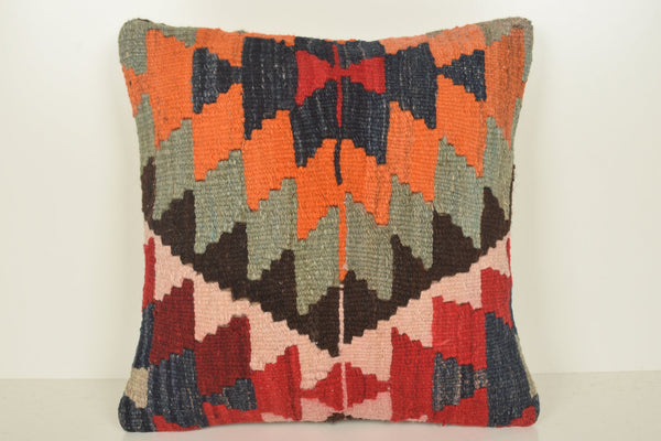 Kilim Pillows Amazon C01041 18x18 Flat Nautical Geometric