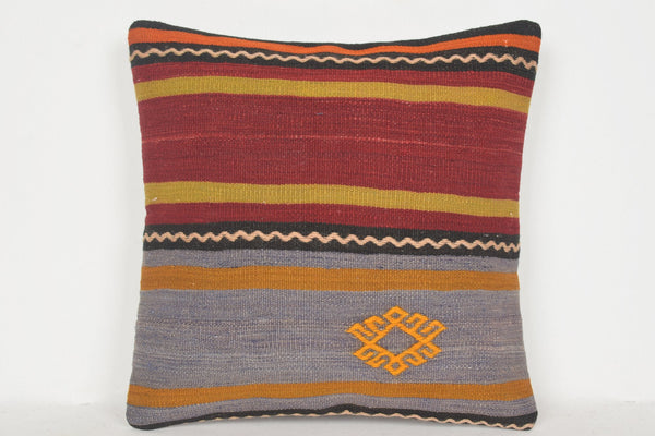 Kilim Woven Throw Pillow D00541 16x16 Bedroom Decoration Society