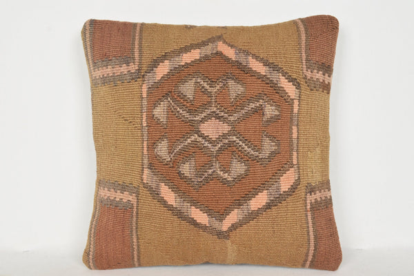 Kilim Rugs Making Pillow D00942 16x16 Artwork Cover Nursery