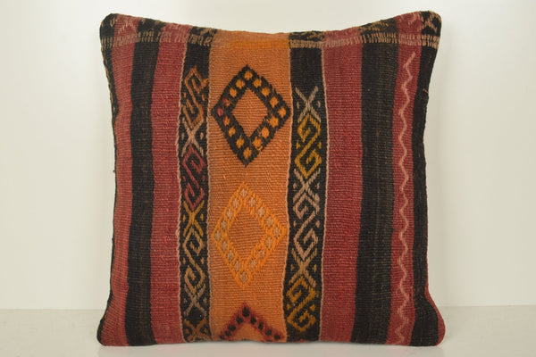 Buy Kilim Rugs Online Pillow B02043 20x20 Culture Decorator Tropical